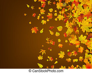 Fallen autumn leaves background. EPS 8