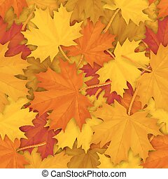 fallen maple leaves pattern - Seamless pattern with autumn...