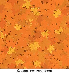 Fallen Maple Leaves, Seamless Background