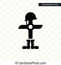 fallen soldier vector icon isolated on transparent background, fallen soldier logo design