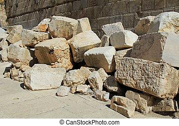 Fallen Stones Outside the Temple Mount