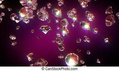 fallender , diamanten