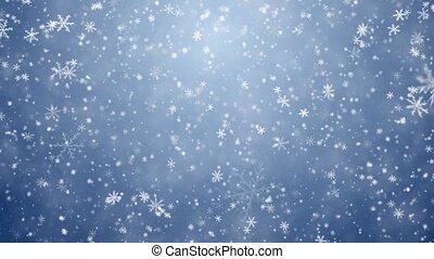 fallender , schneeflocken