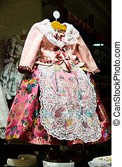 fallera dress, Valencia in Spain fest celebration