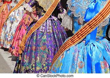 falleras costume fallas dress detail from Valencia