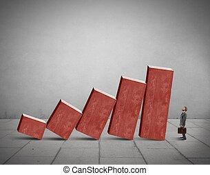 fallimento, concetto, crisi