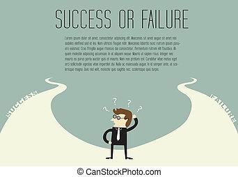 fallimento, o, successo