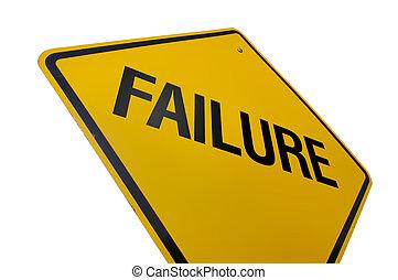 fallimento, segno strada