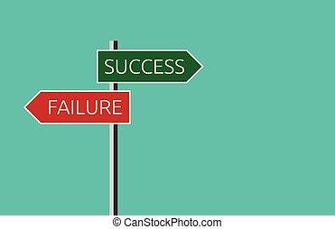 fallimento, successo, segno