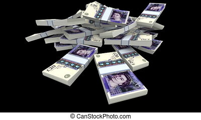 Falling 20 Pounds GBP Packs (Matte)