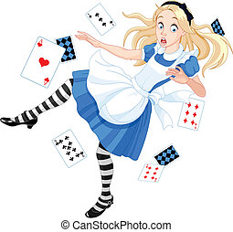Falling Alice - Alice is falling down into the rabbit hole...