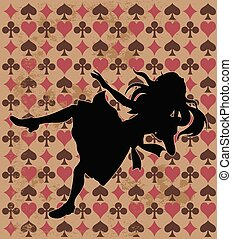 Falling Alice Silhouette