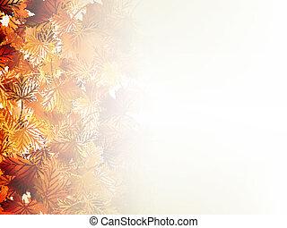 Falling autumn leaves on light. EPS 10