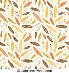 Falling autumn leaves seamless pattern. Vector illustration