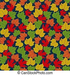 Falling autumn leaves seamless pattern. Vector illustration ...