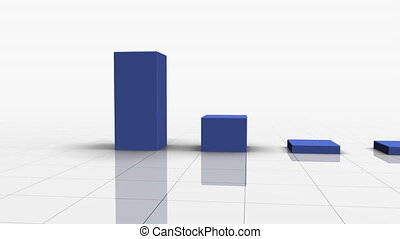 Falling Bar Graph in BLUE