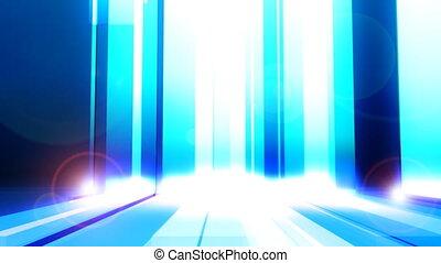 Falling Bars in Blue Loop