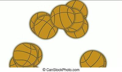 falling basketballs.