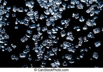 falling blue crystals