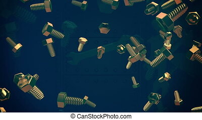 Falling bolts on dark