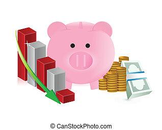 falling business savings