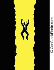 Falling Businessman - Graphic illustration of a businessman ...