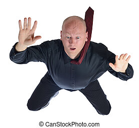 falling businessman - sky diving falling businessman...