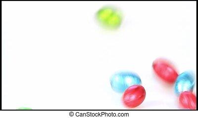 Falling chocolate eggs