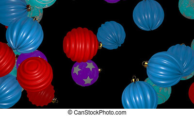 Falling Christmas Balls Transition