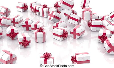 Falling Christmas gift boxes