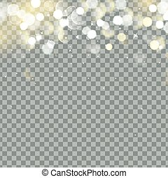 Falling Christmas Shining transparent beautiful snow isolated on transparent background. Snowflakes, snowfall. snowflake vector. Vector illustration
