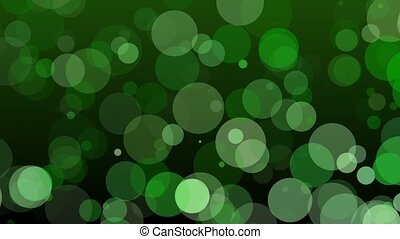 Falling circles in green color