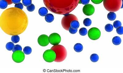 Falling color balls
