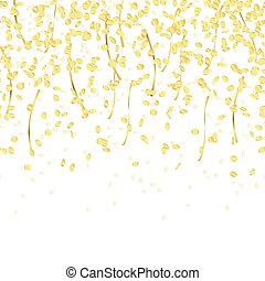 falling confetti endless - gold colored falling confetti ...