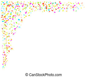 falling confetti - falling oval confetti with different ...