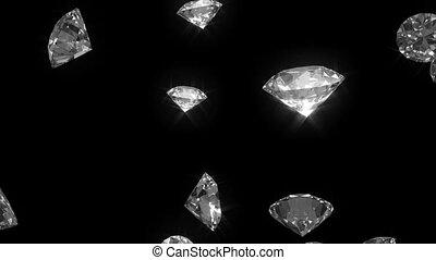 Falling diamonds