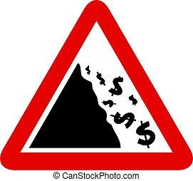 Falling Dollar Sign