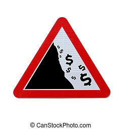 Falling Dollar Warning Sign