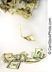 Falling dollars - Dollar notes falling, symbolising money...