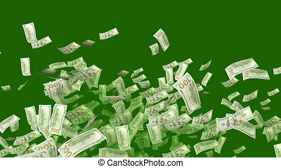 """""""Falling Dollars in the Khaki Background"""" - """"A luxurious 3d..."""