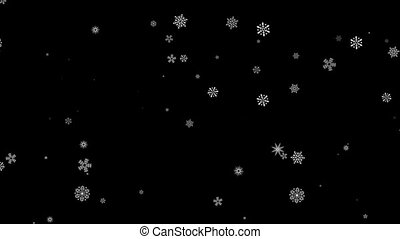 Falling down in slow motion snowflakes effect Motion -...