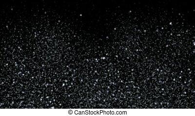 falling dust & snowflake at night