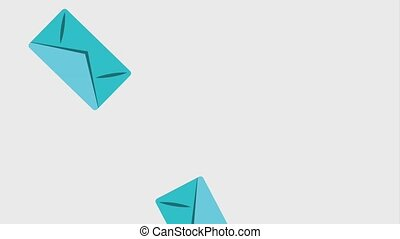 falling envelope email message communication animation