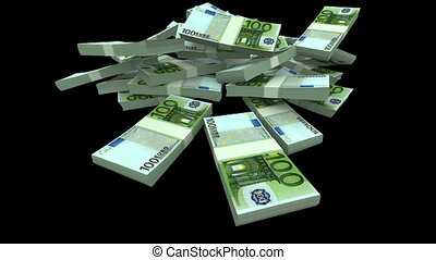 Falling Euro Packs (with Matte) - Falling 100 Euro Packs....