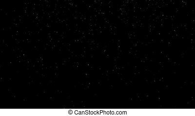 Falling fine snow on a black background HD 1920x1080