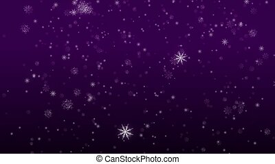 Falling Flakes of Snow Purple Loop - Perfectly seamless (no...