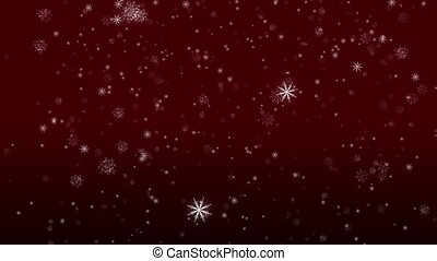 Falling Flakes of Snow Red Loop - Perfectly seamless (no...