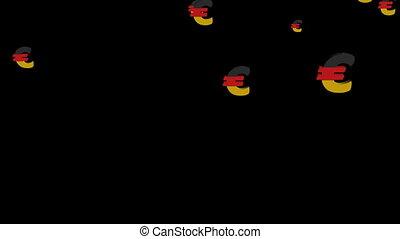 falling German euros animation