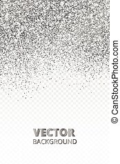 Falling glitter confetti. Vector silver dust isolated on ...