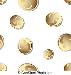 falling gold coins